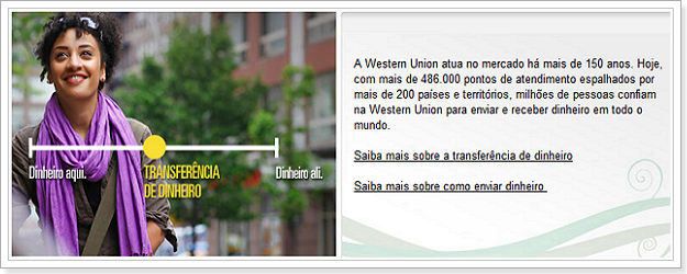 Western Union para Brasil e Portugal