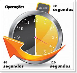 Operações 30 60 e 120 segundos